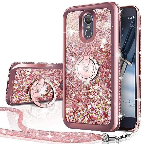 huge discount fd22a 72132 LG Q7 Case, LG Q7 Plus Case,Silverback Moving Liquid Holographic Sparkle  Glitter Case with Kickstand, Bling Diamond Bumper Slim Protective LG Q7/Q7  ...