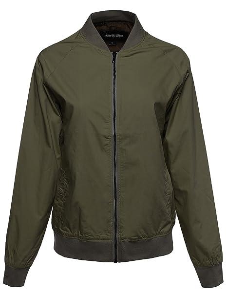 MBE Mujer Estilo Clásico con cremallera corta & larga Bomber chaqueta