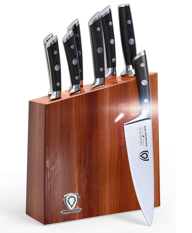 DALSTRONG Knife Set Block - Gladiator Series Knife Set - German HC Steel - 8 Pc