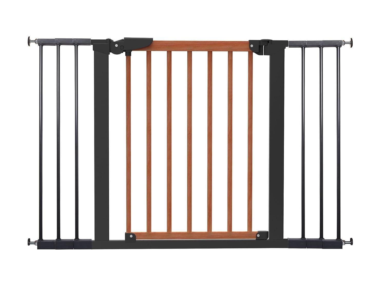 Baby Dan Avantgarde Kirsche/Schwarz: TÜV/GS geprüftes Schutzgitter Tür- und Treppenschutz zum Klemmen 71,3- 117,1 cm – Hergestellt in Dänemark