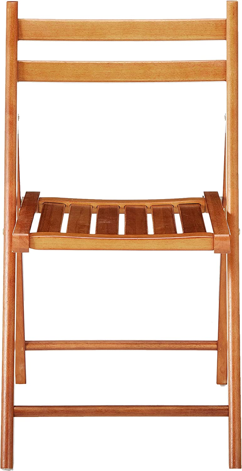 Winsome Robin 4-PC Folding Set Teak Chair: Kitchen & Dining