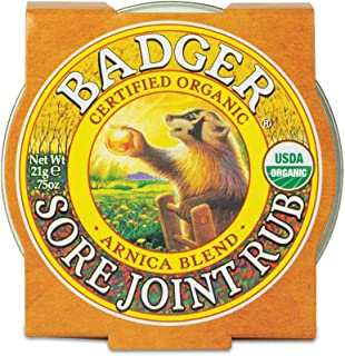 product image for Badger - Sore Joint Rub, Arnica & Black Pepper, Organic Sore Joint Rub, Balm for Sore Joint & Arthritis, Warming Balm, Joint Pain Relief Balm, Warming Joint Rub, Sore Joint Rub, 0.75 oz