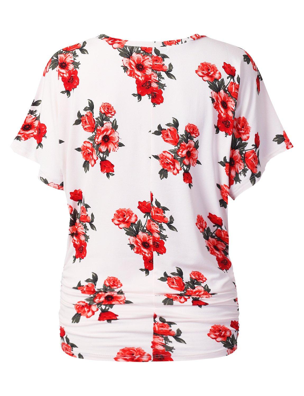 e333aa12126 URBANCLEO Womens Short Sleeve Dolman Drape Top Shirts (Plus larger image