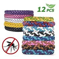 AODOOR Mückenschutz Armband, Anti Mücken Armband 12 Stück Wristband Armband natürlichen Anti Mückenarmband Mücken Gürtel für Outdoor und Indoor, Kinder, Erwachsene