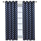 Royal Tradition Meridian, 52-Inch Wide x 96-Inch Long, Set of 2, Thermal Insulated Room Darkening Curtains, Navy