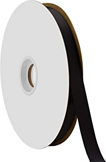 """product image for Offray Berwick 5/8"""" Single Face Satin Ribbon, Black, 100 Yds"""