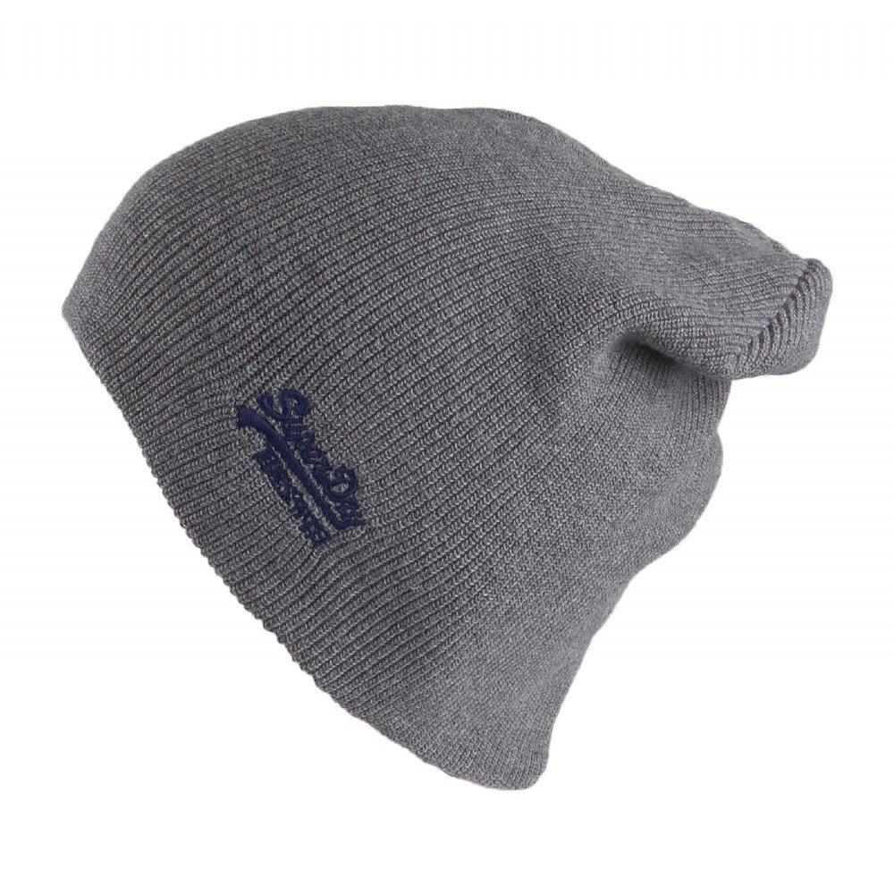 6e37d64b352d9 Superdry Hats Oversize Beanie Hat Dark Grey 1-Size  Amazon.co.uk  Clothing