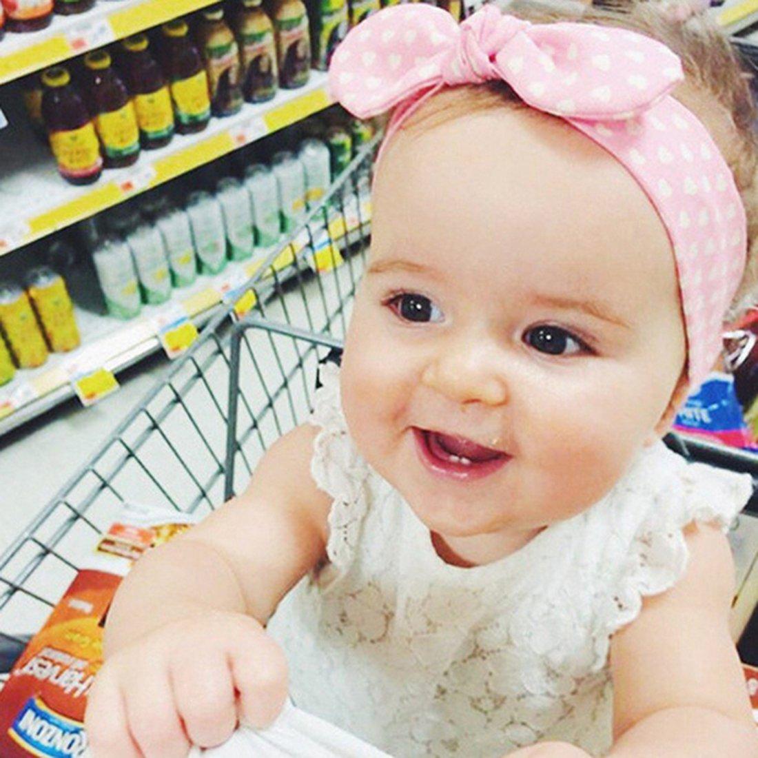 JMITHA Bébé Fille Bandeau Cheveux Elasticité Bandeaux bandeau bébé fille  Turban Bandeaux élastique serre-tête Wrap ... cdcfc42e234