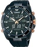 Lorus Watches Gent's Black Alarm Chronograph Watch