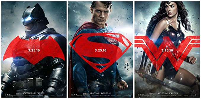 BATMAN V SUPERMAN DAWN OF JUSTICE Set Of 3 Original Promo Movie Posters 115quot