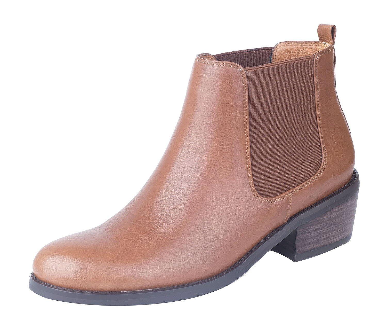 Verocara Womens Genuine Leather Block Heel Ankle Boots Zipper Pumps