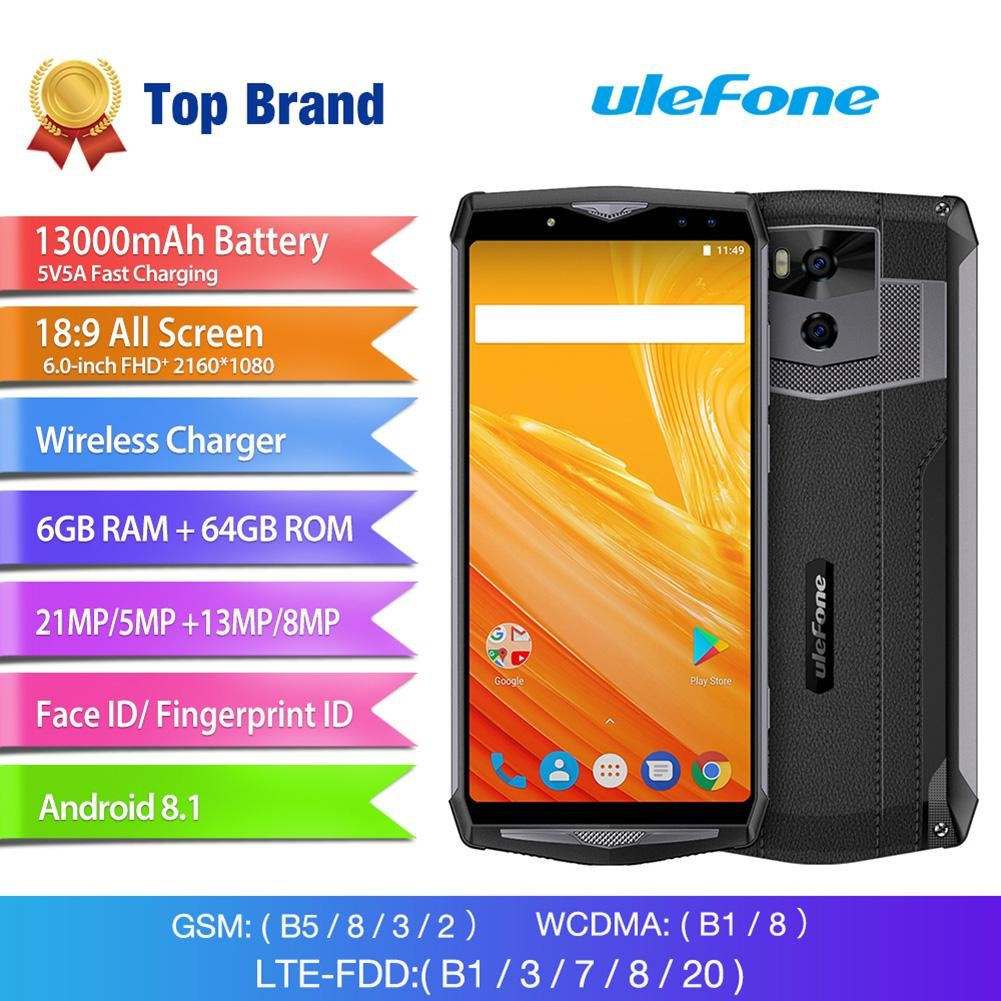Widewing Ulefone Power 5 Android 8.1 Octa Core 4G Phone con RAM ...