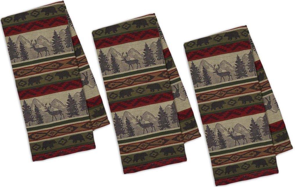 DII Back Country Stripe Jacquard Towel - Set of 3