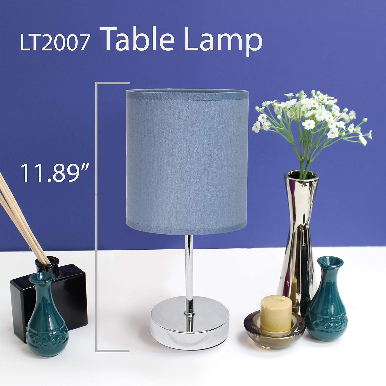 Simple Designs Home LT2007-BLU Mini Basic Table Lamp Blue