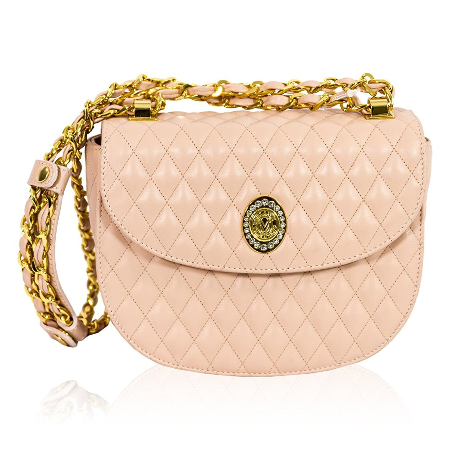 Valentino Orlandi Diseñador Italiano Rose Pink Quilted ...