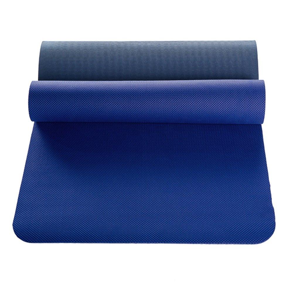 JTWJ Anfänger dünne Abschnitt Fitness erweitert Yoga-Matte (Farbe : Blau)