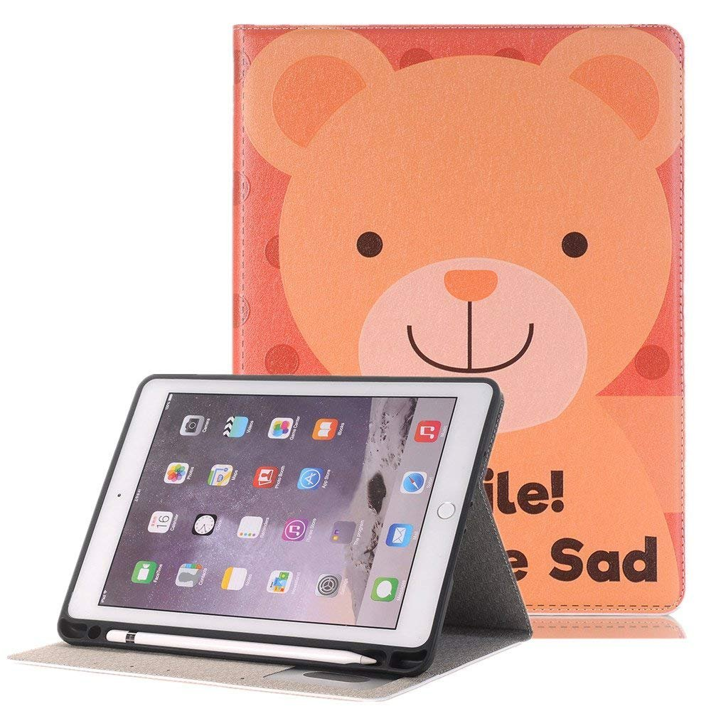 Meiliio mini 4 Screen Protector,Cute Cartoon PU Leather Lightweight Case Cover with Card Slots Smart Screen Protective Cover ONLY for iPad Mini 4