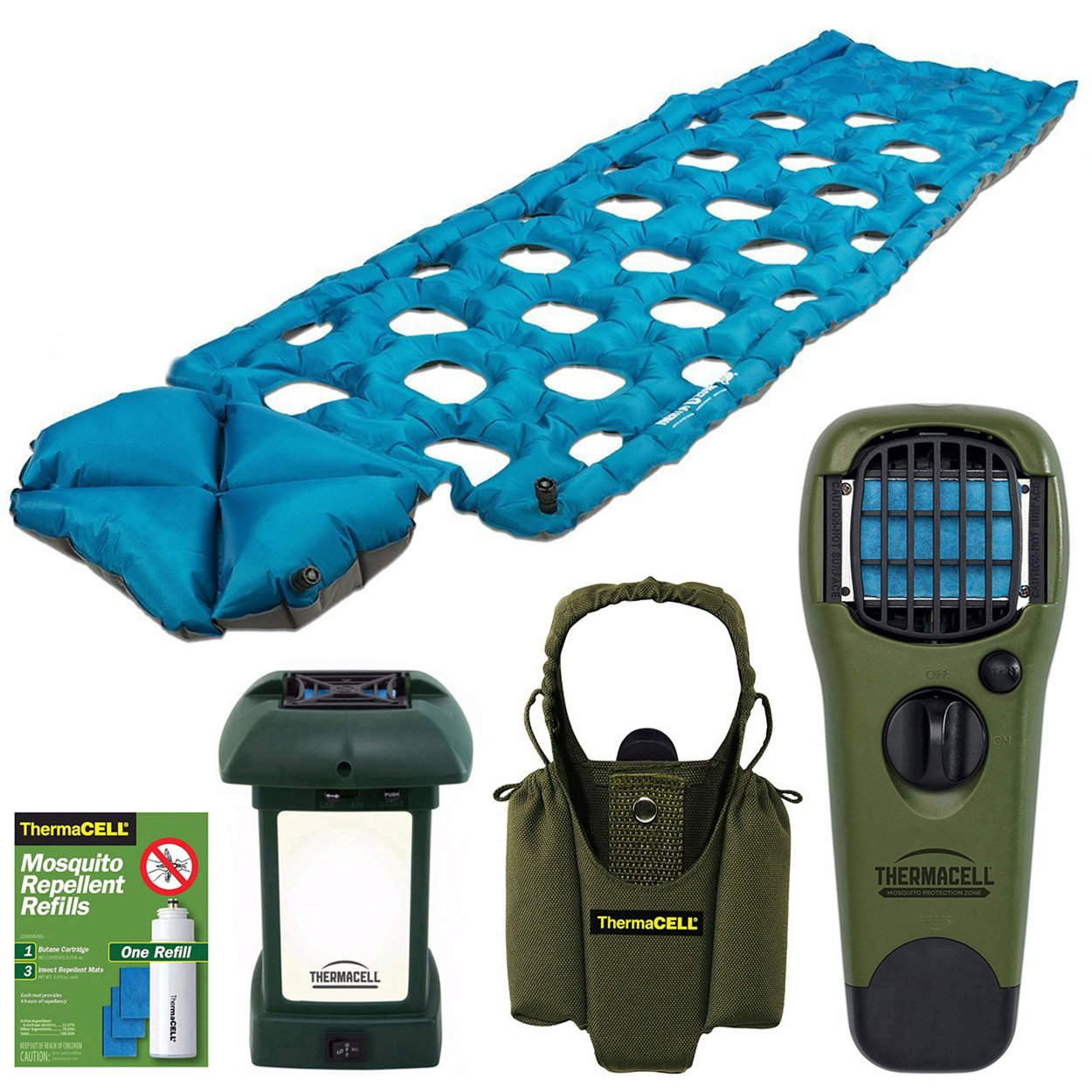 Klymit Inertia O Zone Lightweight Camping Air Pad + bundle