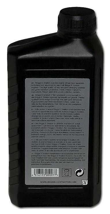 Briggs & Stratton Aceite, Negro, 1.0 Litro: Amazon.es: Coche y moto