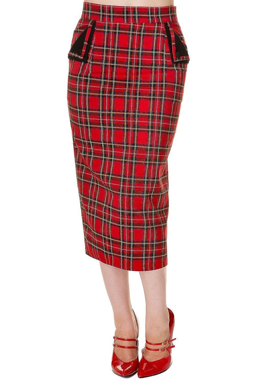 Banned Rockabilly Vintage Wiggle Pencil Skirt