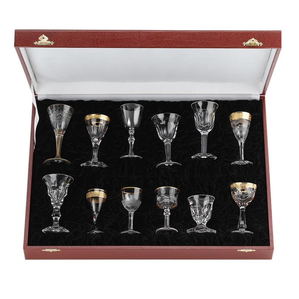 MOSER CRYSTAL LIQUEUR SET Set of 12 liqueur glasses