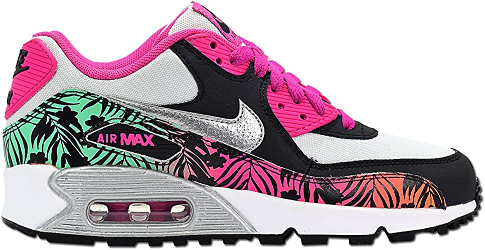 Nike AIR MAX 90 FLOWER PRINT GS Runner Low Top Sneaker