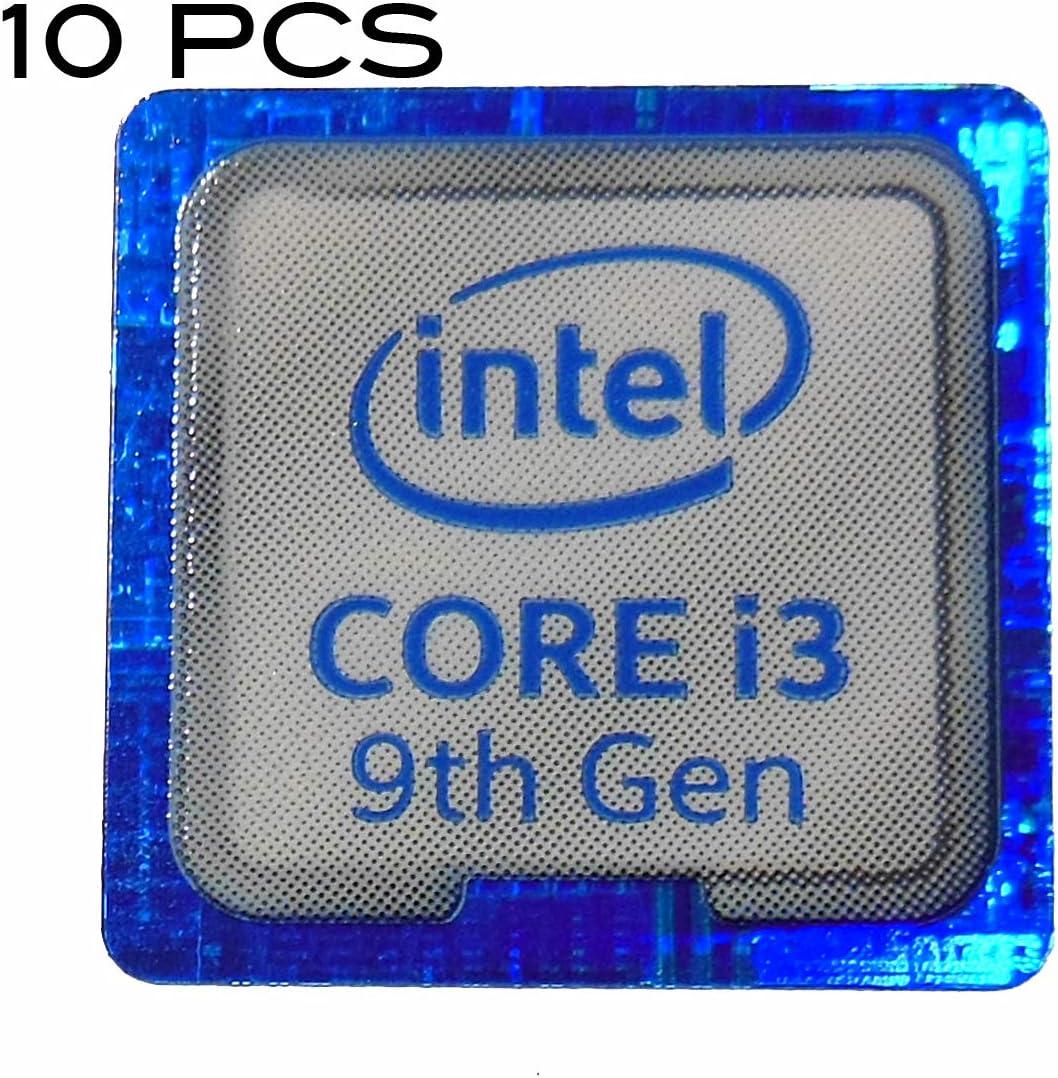 1025x10 10 Pieces of Intel Core i3 9th Gen Sticker 18 x 18mm 11//16 x 11//16