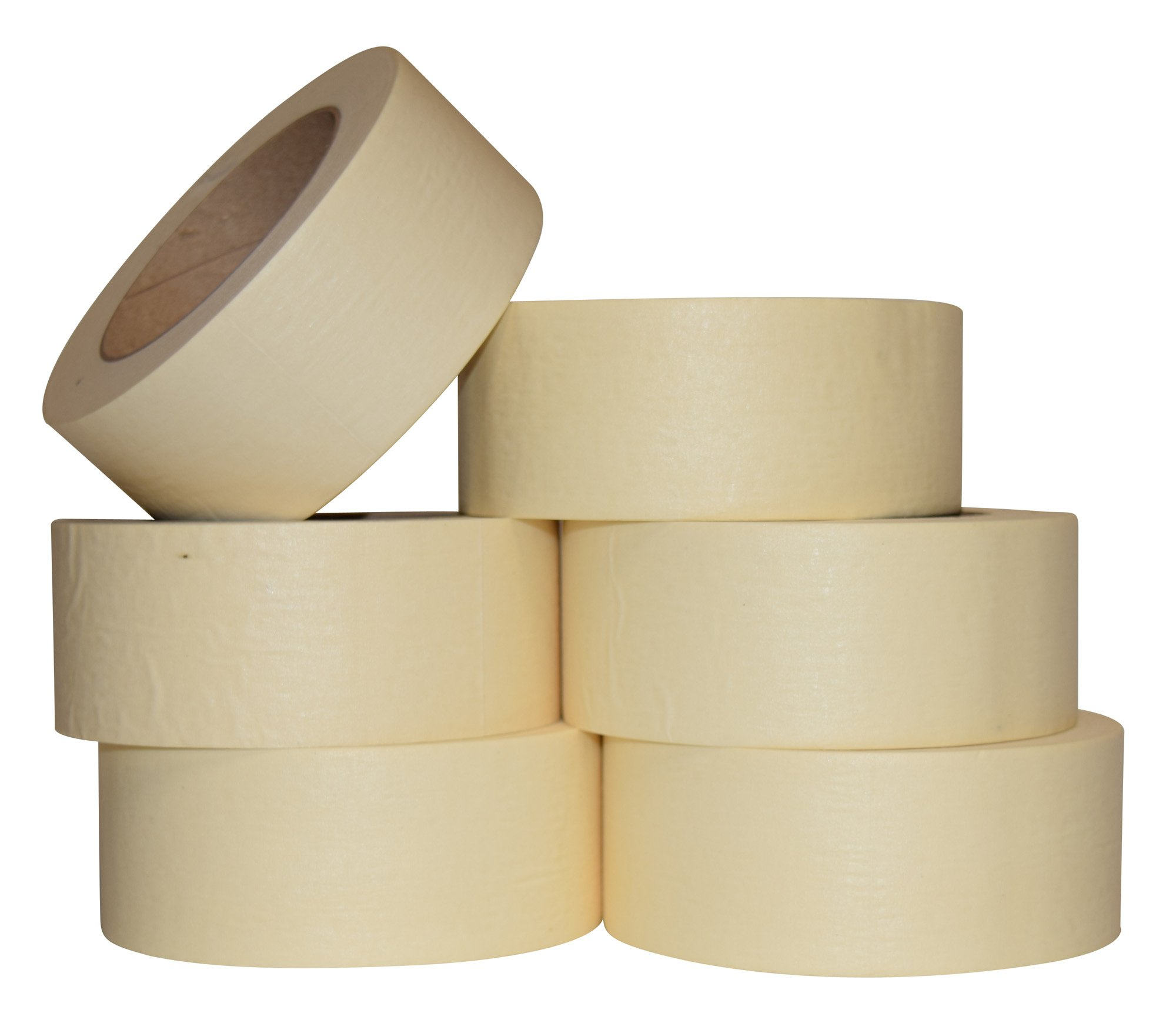 6 ROLLS - 2 Inch Masking Tape for General Purpose / Painting - 60 yards per roll