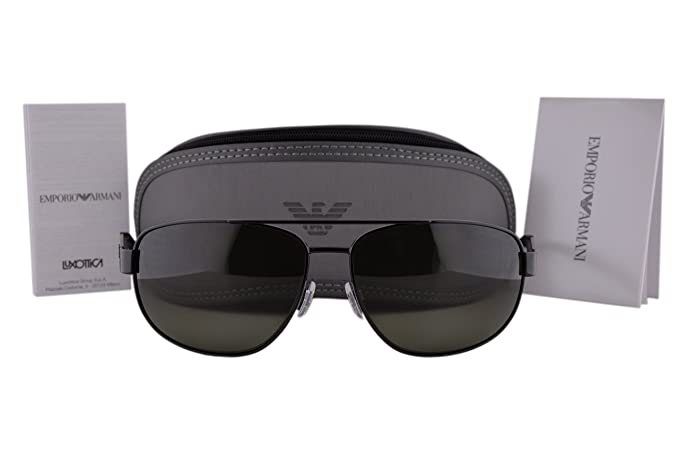 dafa7b3f3fea Emporio Armani EA2036 Sunglasses Black w Polarized Dark Green Lens ...