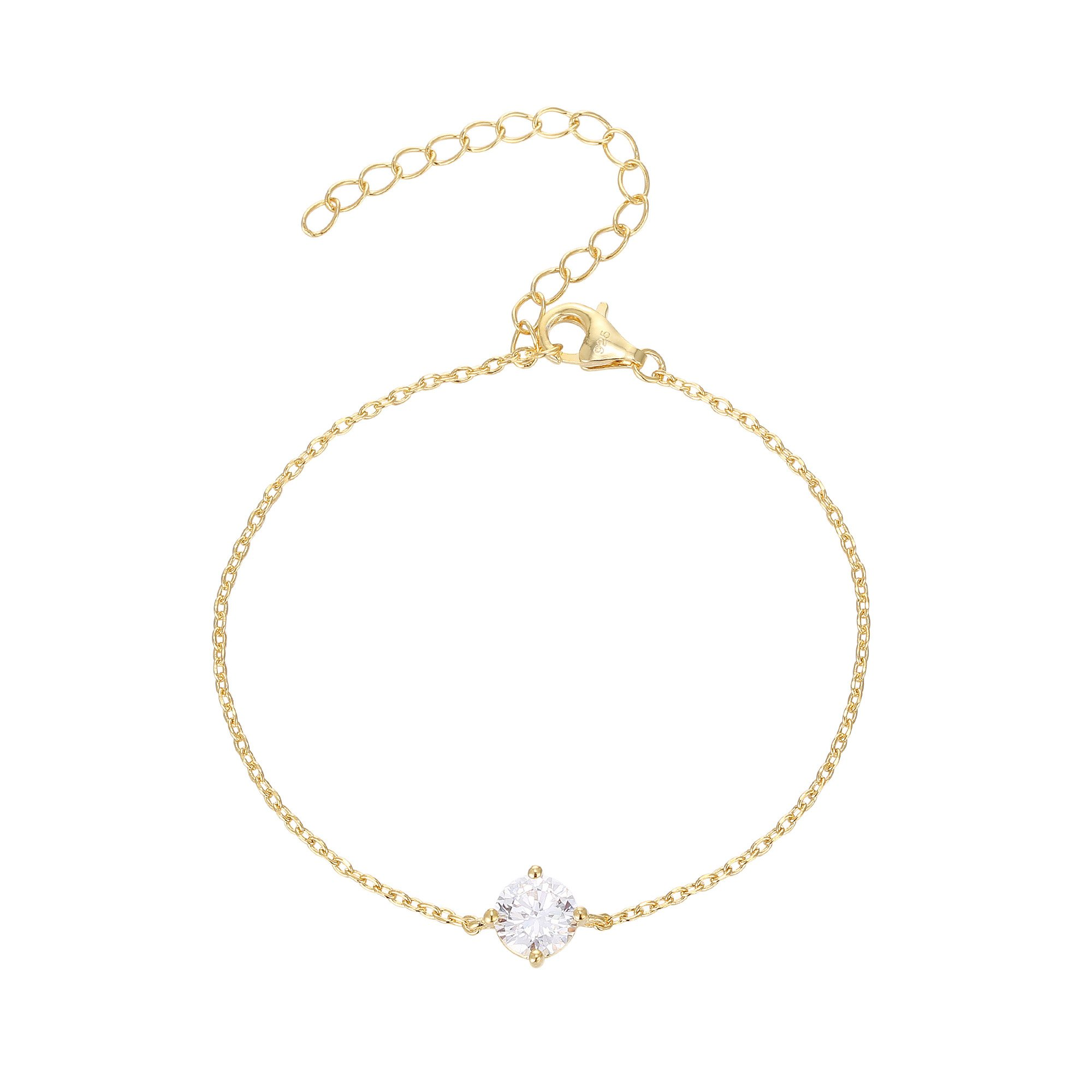 PAVOI 14K Gold Plated Simulated Solitaire Diamond Bracelet - Yellow by PAVOI (Image #1)