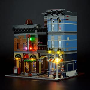 LIGHTAILING Light Set for ( Expert Detective's Office) Building Blocks Model - Led Light kit Compatible with Lego 10246(NOT Included The Model)