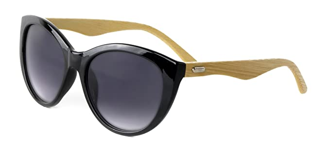 61021766bf5 Amazon.com  Optimum Optical Women s Curved Cat s Eye Sunglasses with ...