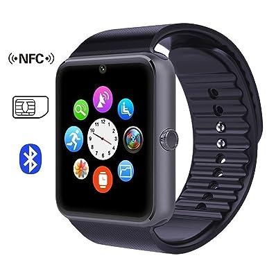 GT08 - Reloj Inteligente con Pantalla táctil para teléfono Android (GT08, Color Negro)
