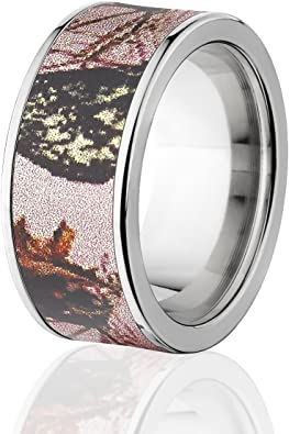 Amazon Com Mossy Oak Rings Camouflage Wedding Bands Pink Breakup Camo Bands The Jewelry Source Jewelry