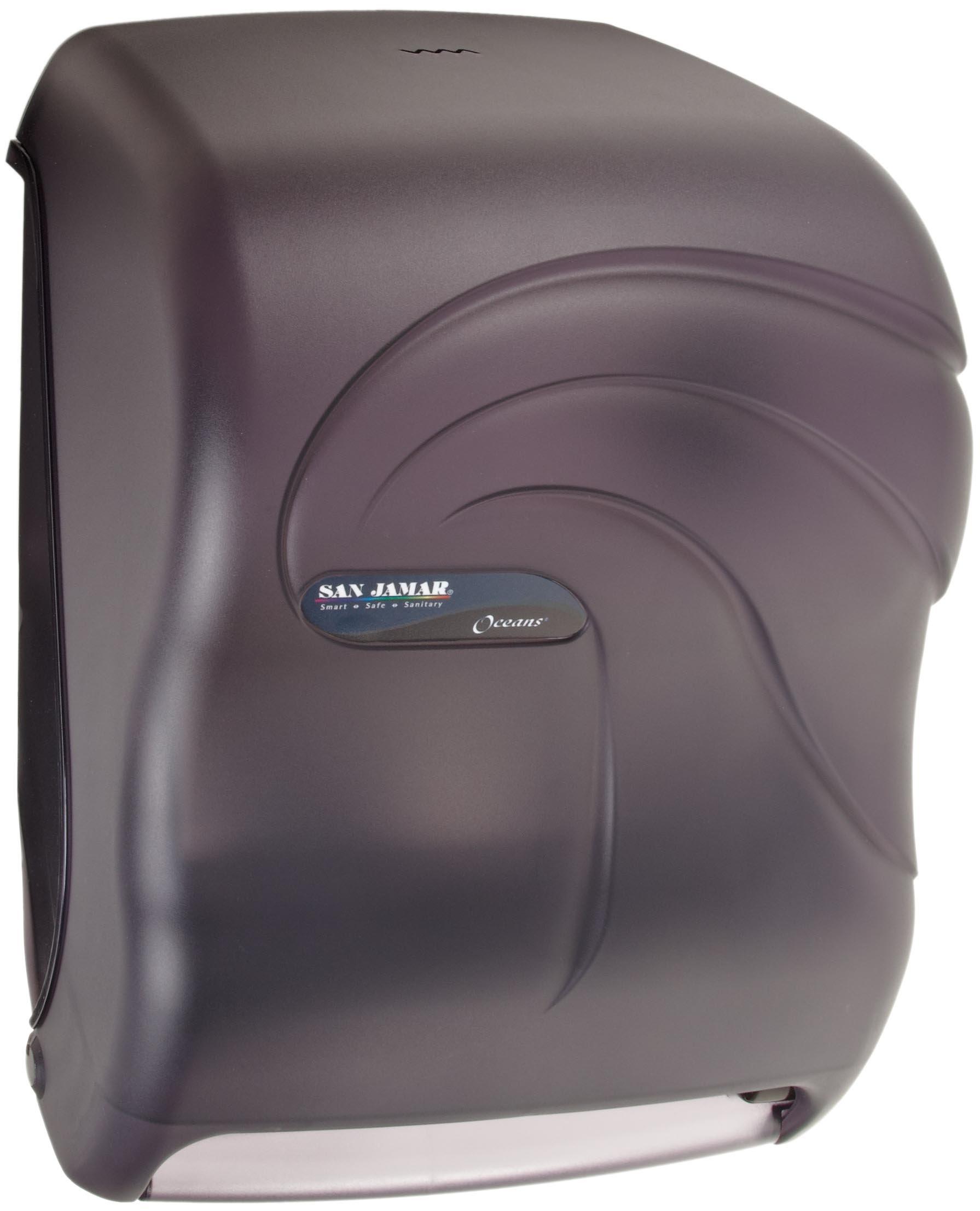 Oceans T1490TBK 11-3/4'' Width x 15-1/2'' Height x 9-1/2'' Depth, Black Pearl Smart System with iQ Sensor Roll Towel Dispenser