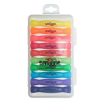 Marcadores fluorescentes aromáticos con forma de caramelo de Smiggle, paquete de 10 unidades
