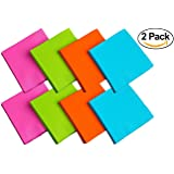 Party Essentials 2-Ply Paper Cocktail Beverage Napkins, Assorted Neon Brights, 48-Count (Cocktail/Beverage - 2 Pack)