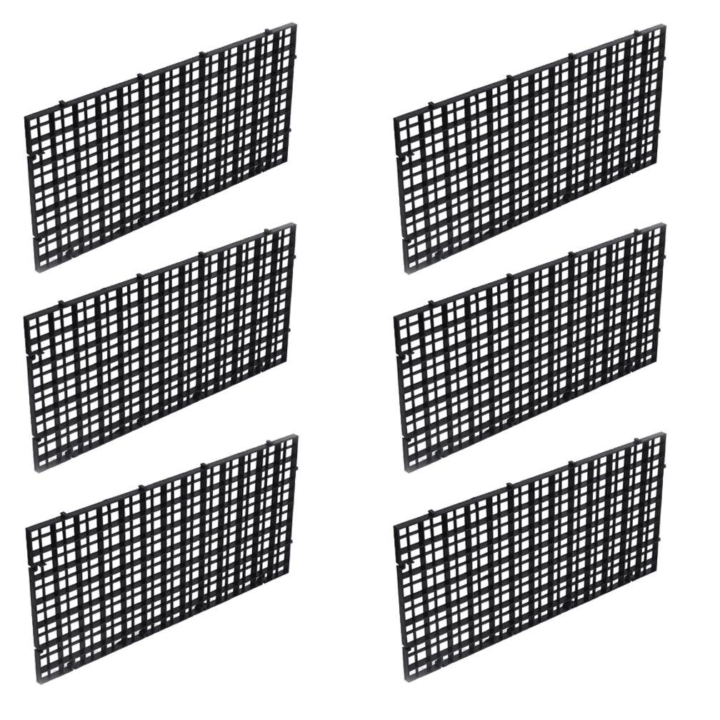 OBANGONG 6 Pcs Grid Isolate Board Divider Fish Tank Bottom Black Filter Tray Aquarium Crate by OBANGONG
