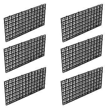 Wetrys 6 separadores para Tabla de Pescado con Rejilla aislada, Parte Inferior del depósito de Peces, Bandeja de Filtro Negra para Acuario: Amazon.es: ...