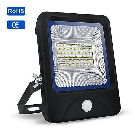 Reflector LED 30W|S&G Proyector LED 30W Sensor de Movimiento+Control de Iluminación 6000K