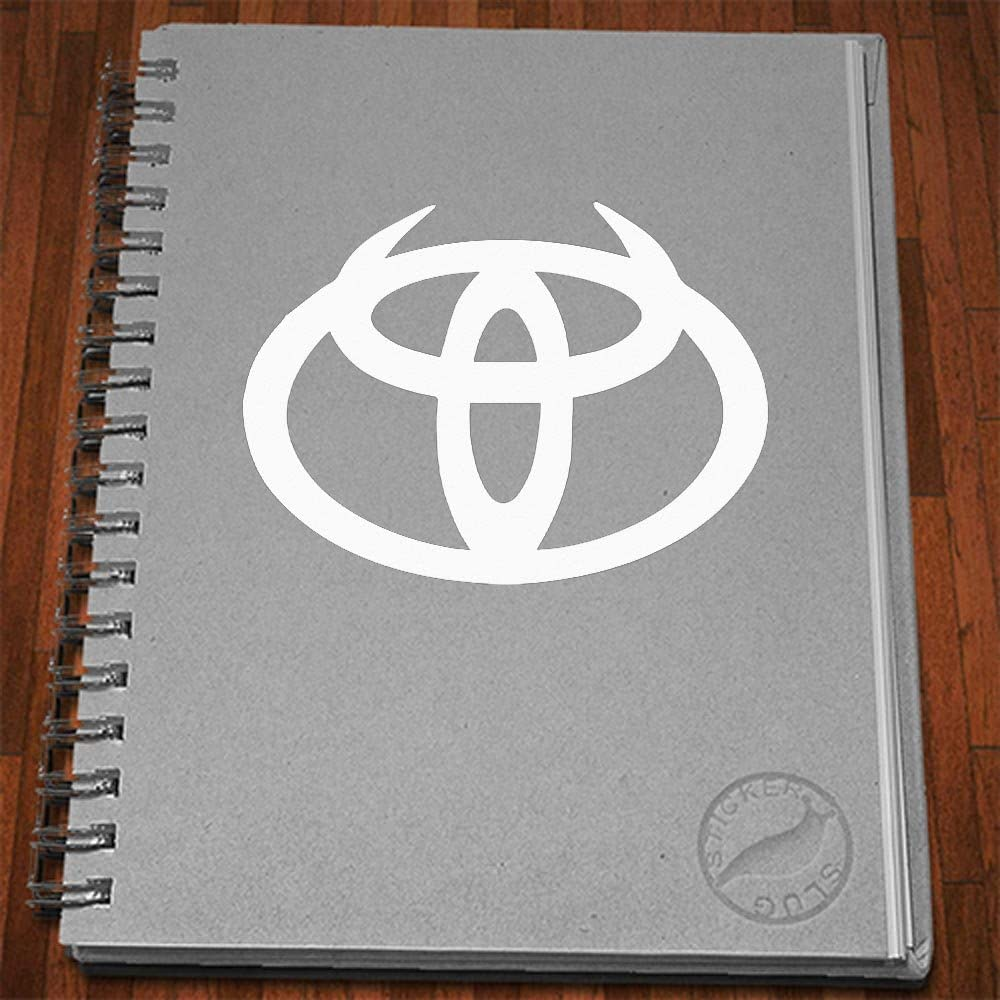 Black, 5 inch Devil Horned Toyota Decal Sticker