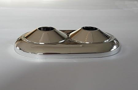5 Stück  Doppel Heizungsrosetten Heizungsmanschetten verchromt  20 mm
