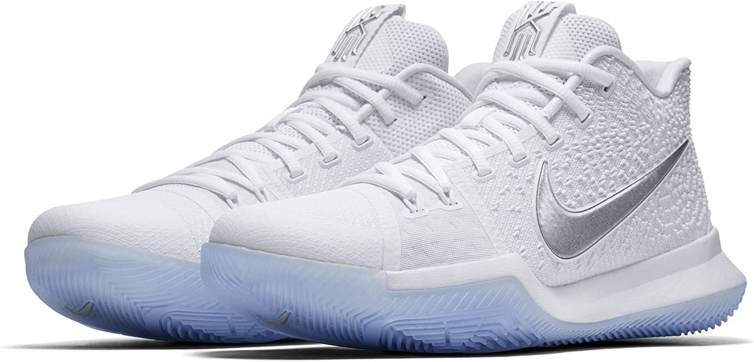 Nike Boys Grade-School Kyrie 3 GS Athletic Sneakers White Size 4Y D US