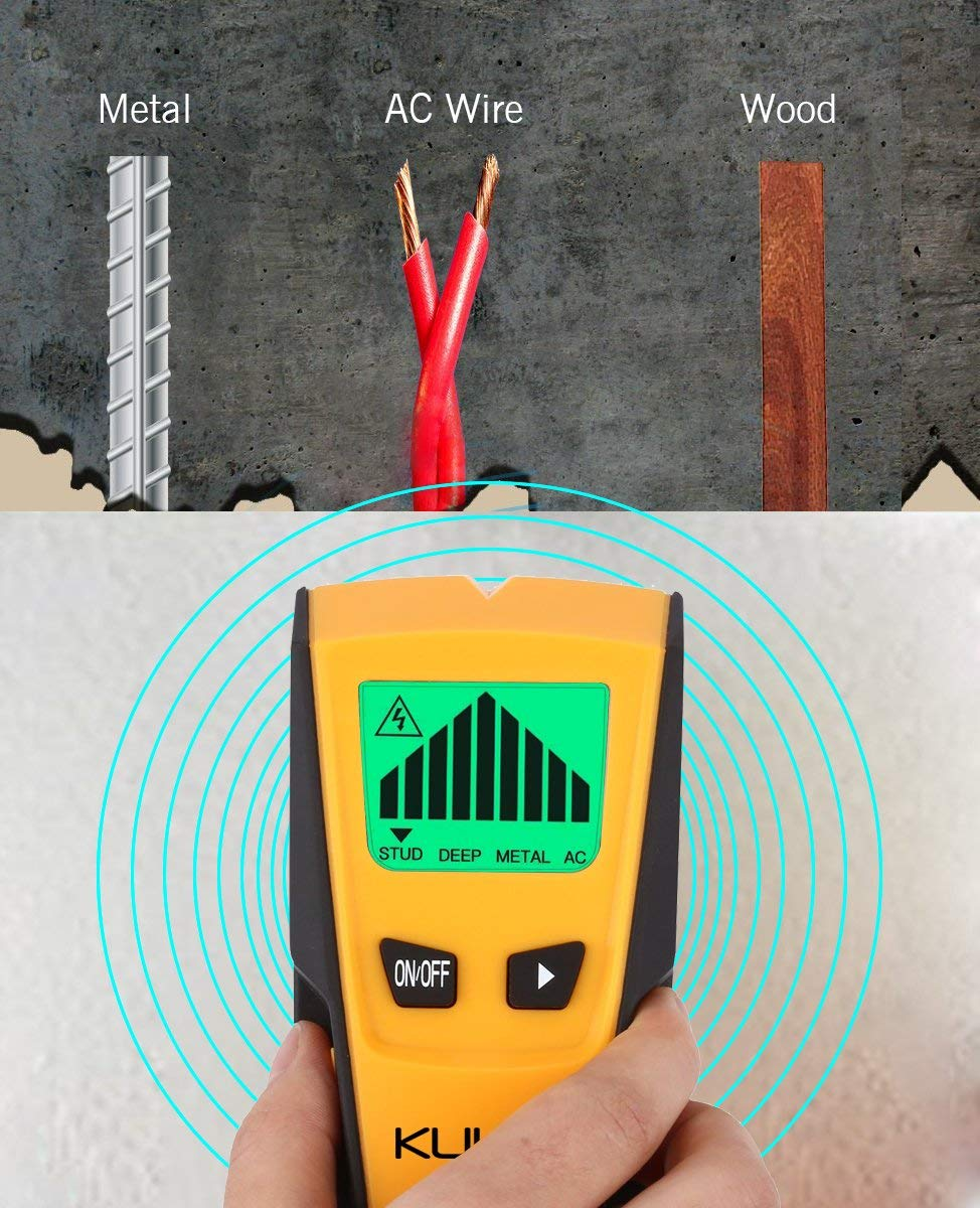 Stud Finder 3 In 1 Multi Function Wall Sensor Detector With Wiring Basics Lcd Display And Sound Warning For Ac Live Wire Wood Metal Deep Scanning Kuled M79