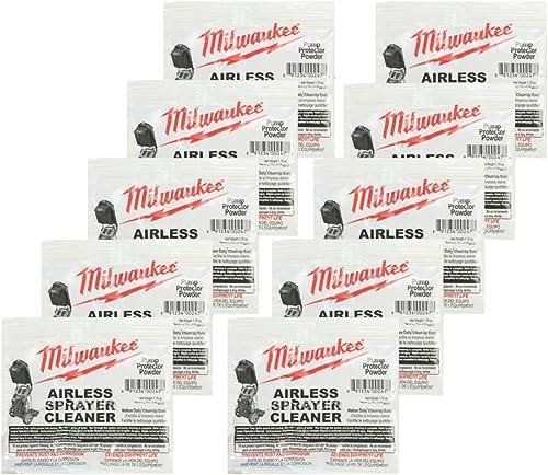 Milwaukee M4910-10 Paint Sprayer 10 Pack Airless Cleaning Powder 039601001050-10PK
