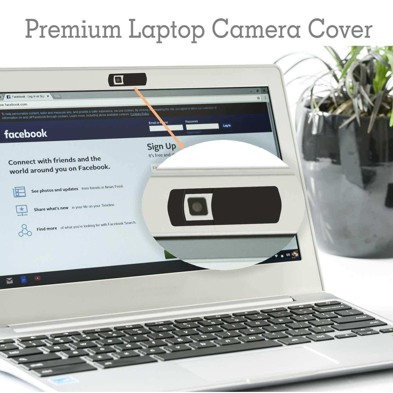 Webcam Cover-Laptop Camera Cover,Webcam Cover Slide,Large Design Strong Stickability Laptop Webcam Cover for Phone Laptops Mac Books PCs Tablets Smartphones Covers Your Camera for Privacy Security -3