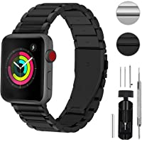 Fullmosa Apple Watch Band Compatible for iWatch Series 5/4/3/2/1, Fullmosa LUS Watch Band for Apple Watch 40mm 38mm 44mm 42mm,40mm Black