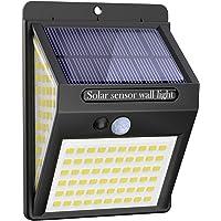 Litogo Luz Solar Exterior 140 LED【1 Pack / 3 Modos】con Sensor de Movimiento, Luces…