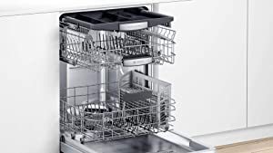 "Bosch SHXM78Z55N 24"" 800 Series Fully Integrated Dishwasher with 16 Place Settings, Flexible 3rd Rack, InfoLight and CrystalDry (Stainless Steel)"
