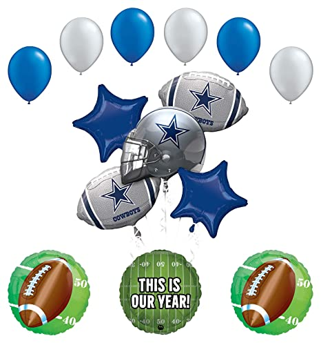 Amazon Mayflower Products Dallas Cowboys Football Party Supplies This Is Our Year Balloon Bouquet Decoration Toys Games